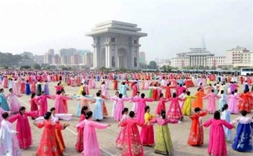 朝鲜驻越大使举行招待会 hinh anh 1