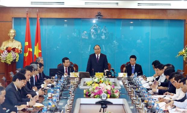 越南政府总理阮春福:力争使越南成为信息技术强国 hinh anh 1