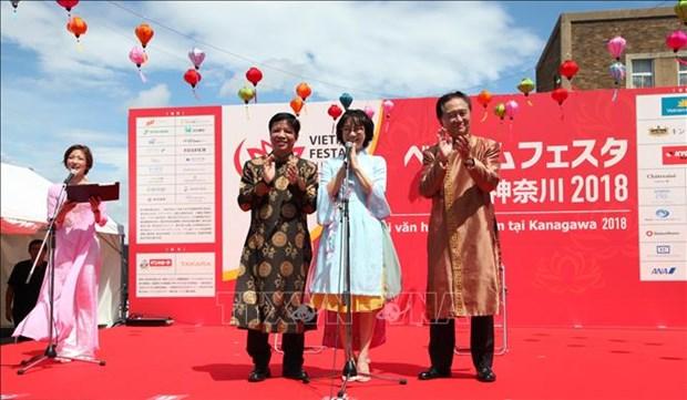 2018年越南节在日本神奈川举行 hinh anh 1