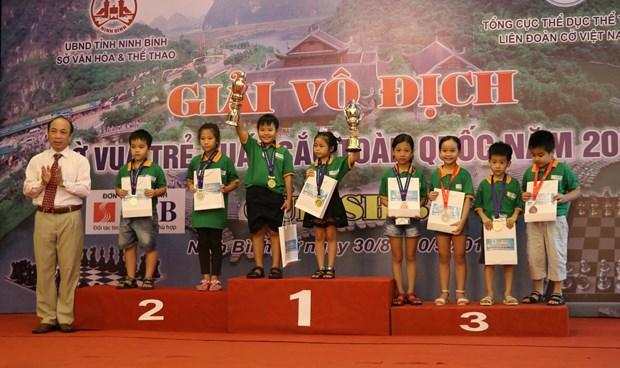 全国优秀青少年国际象棋锦标赛闭幕 全国民族摔跤锦标赛开幕 hinh anh 1