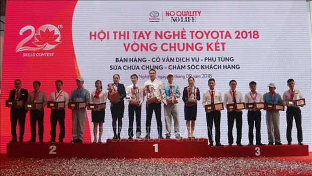 2018年全国丰田手艺技术比赛总决赛在乂安省举行 hinh anh 1