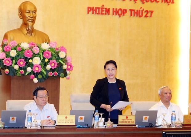 越南第十四届国会常委会第二十七次会议开幕 hinh anh 1