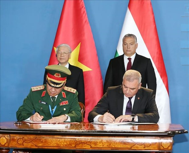 越南与匈牙利签署多项合作文件 hinh anh 1