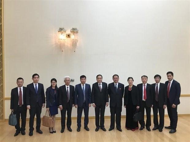 越南党和国家代表团对朝鲜进行工作访问 hinh anh 2