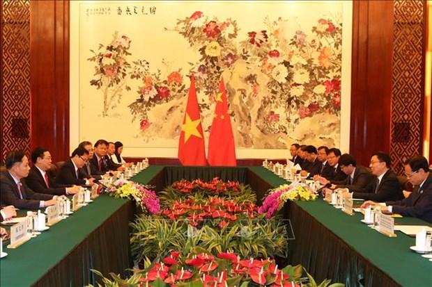 越南政府副总理王廷惠与中国国务院副总理韩正举行会谈 hinh anh 2