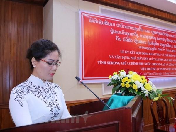 越南在老挝开展最大矿产投资项目 hinh anh 1