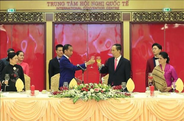 越南国家主席陈大光与夫人举行盛大招待会 欢迎印尼总统到访 hinh anh 2