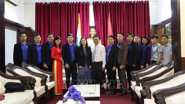 越南胡志明共青团中央委员会代表团访问印度 hinh anh 1