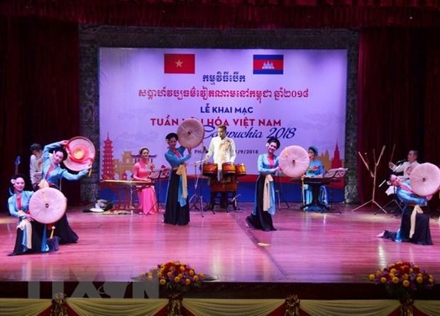 富有民族文化特色的柬埔寨越南文化周拉开序幕 hinh anh 1