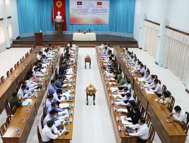 越南安江省与柬埔寨干丹省加强多领域合作 hinh anh 1