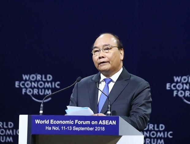 WEF ASEAN 2018: 2018年世界经济论坛东盟峰会在河内开幕 hinh anh 4