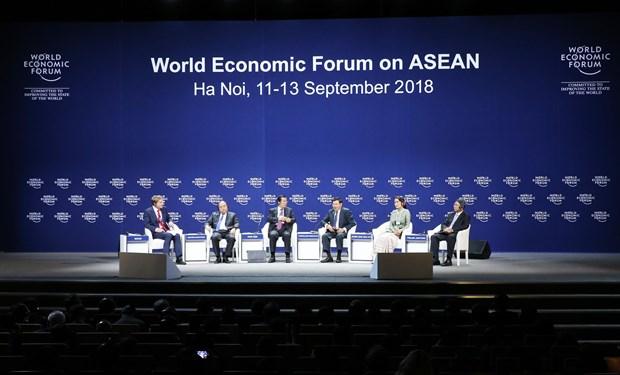 """WEF ASEAN 2018: 政府总理阮春福出席""""湄公地区新愿景""""讨论会 hinh anh 1"""