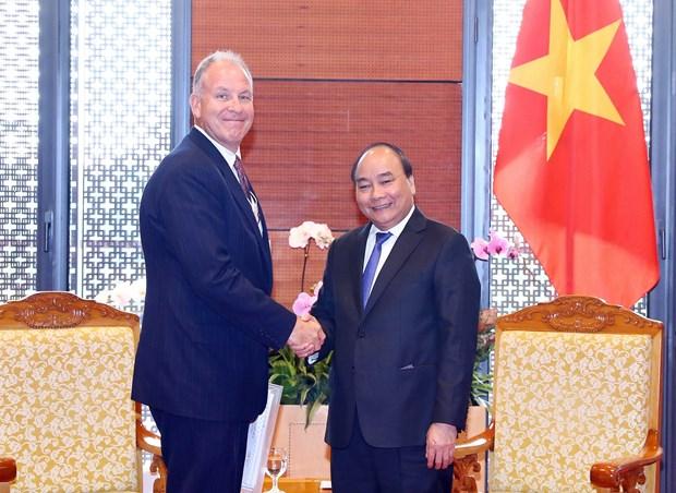 越南政府总理阮春福会见世界大型集团领导 hinh anh 2
