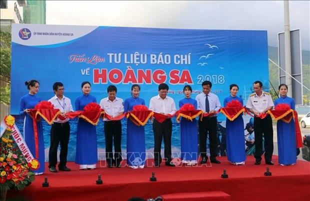 """2018年""""有关黄沙的新闻资料""""展览会在岘港市开幕 hinh anh 1"""
