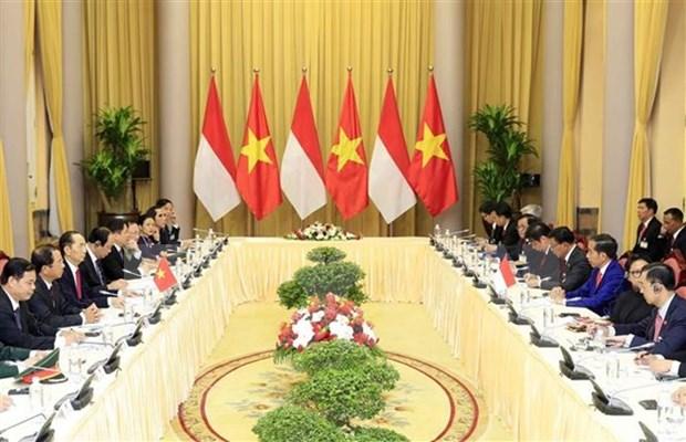 越南印度尼西亚联合声明(全文) hinh anh 1