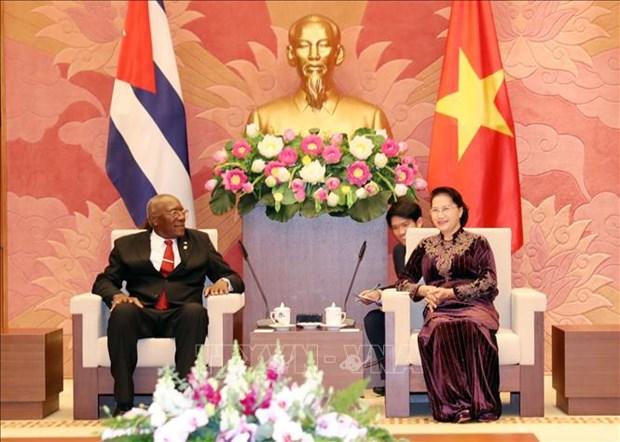 越南国会主席阮氏金银会见古巴国务委员会第一副主席兼第一副部长会议主席 hinh anh 1
