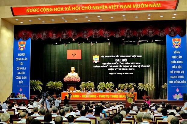"""胡志明市天主教人士坚持""""与民族并肩同行""""的方向 hinh anh 1"""