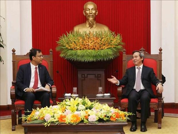 中央经济部部长阮文平会见赴越出席2018年世界经济论坛东盟峰会的企业代表 hinh anh 2