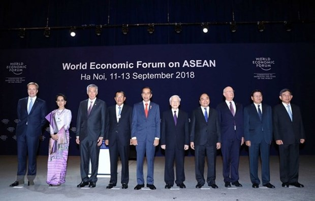 WEF-ASEAN 2018:东盟支持维护贸易自由 hinh anh 1