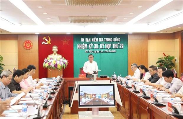 中央检查委员会第29次会议发布公报 hinh anh 1