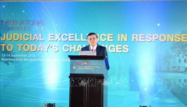 越南代表团出席在泰国举行的司法国际会议 hinh anh 2