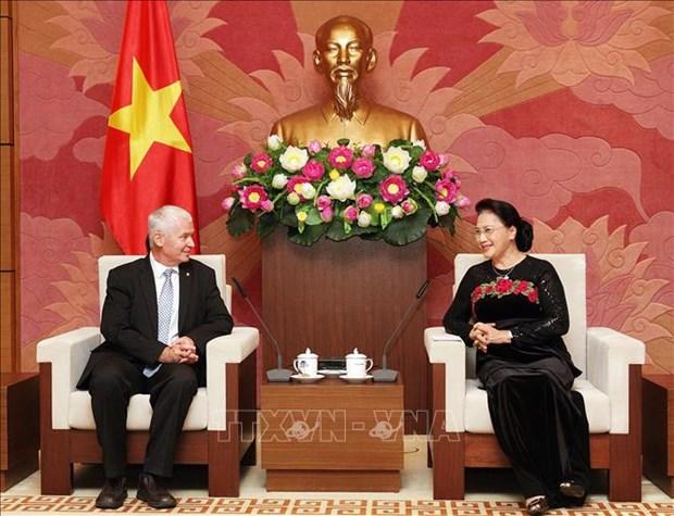 越南国会主席阮氏金银会见匈牙利总检察长波尔特 hinh anh 1