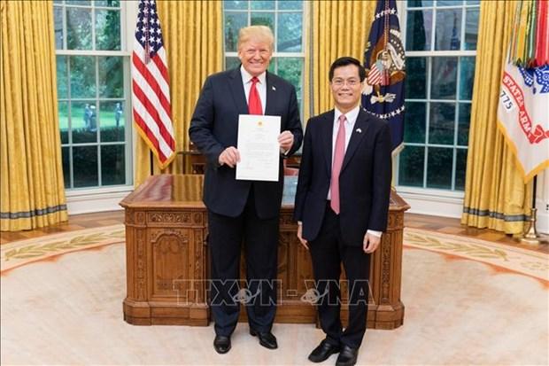 美国总统高度评价越美关系所取得的进展 hinh anh 1