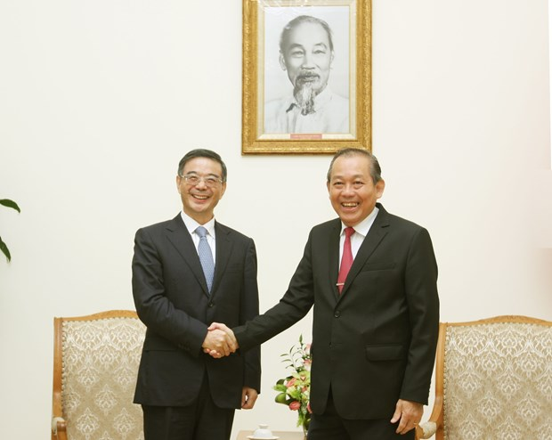 越南政府副总理张和平会见中国最高人民法院院长周强 hinh anh 1
