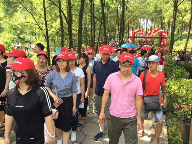 广宁省汪秘市安中湖生态旅游景区正式亮相 hinh anh 1