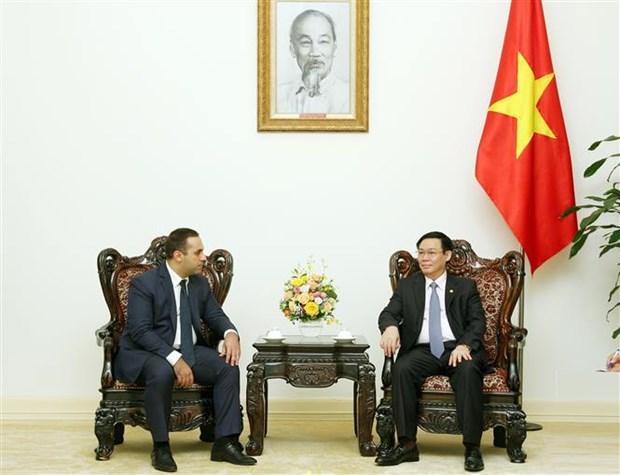 越南政府副总理王廷惠会见保加利亚经济部部长 hinh anh 1