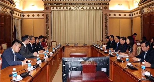 大力加强越南胡志明市与中国香港的合作 hinh anh 1
