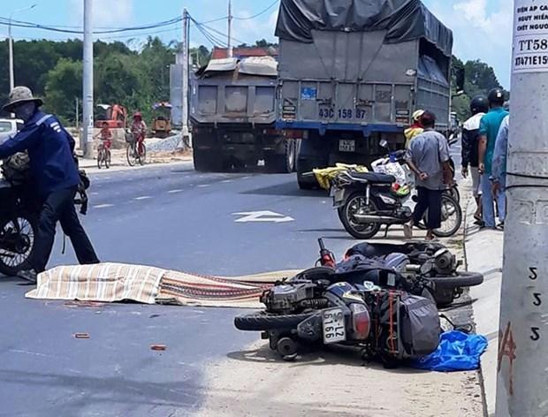 广南省发生一起交通事故 一名外籍女性死亡 hinh anh 1
