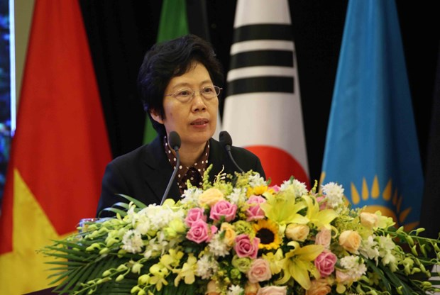 ASOSAI 14: 越南国家审计署审计长胡德福正式接任亚审组织主席一职 hinh anh 2