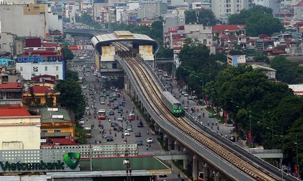 由中国企业承建的越南河内轻轨吉灵—河东线项目正式试运行 hinh anh 1