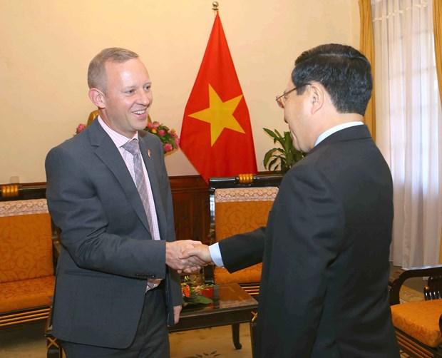 越南政府副总理兼外交部长范平明会见英国驻越大使 hinh anh 1