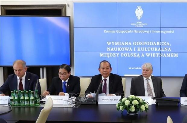 越南政府常务副总理张和平出席越南波兰经济合作研讨会 hinh anh 1