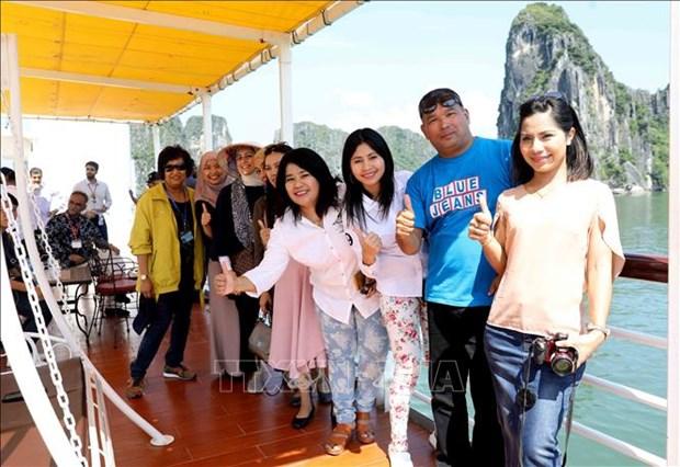ASOSAI 14: 最高审计机关亚洲组织代表团参观广宁省下龙湾 hinh anh 2