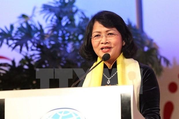 越南国家副主席邓氏玉盛圆满结束出席第二届亚欧妇女论坛之旅 hinh anh 1
