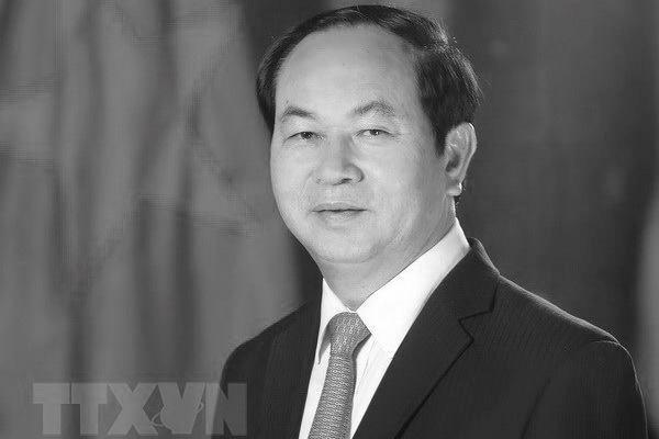世界多国领导就越南国家主席陈大光逝世致唁电 hinh anh 1