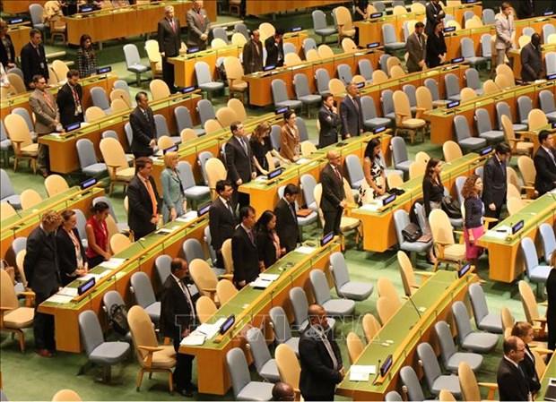 联合国大会为越南国家主席陈大光逝世默哀一分钟 hinh anh 1