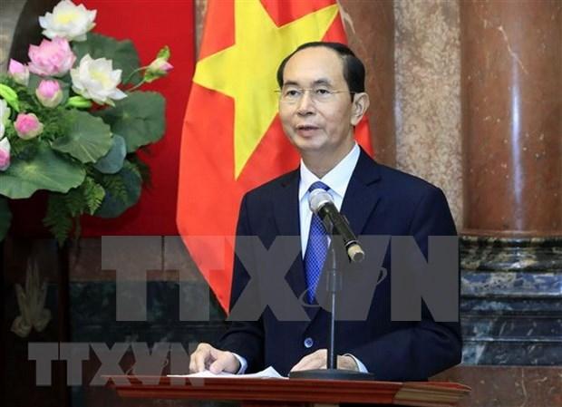 越南国家主席陈大光逝世:泰国下半旗致哀 多国领导人致唁电 hinh anh 1