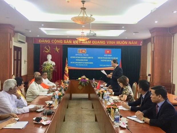 越南与斯里兰卡促进宗教领域的交流与合作 hinh anh 1