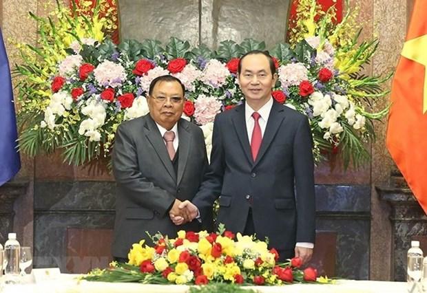 老挝、古巴和中国等世界各国领导继续就国家主席陈大光逝世向越方领导致唁电 hinh anh 1