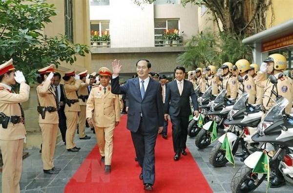 陈大光大将:对公安力量平易近人的一位首长 hinh anh 1