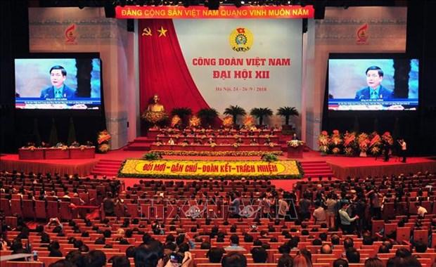 越南工会第十二届全国代表大会全体会议隆重开幕 hinh anh 2