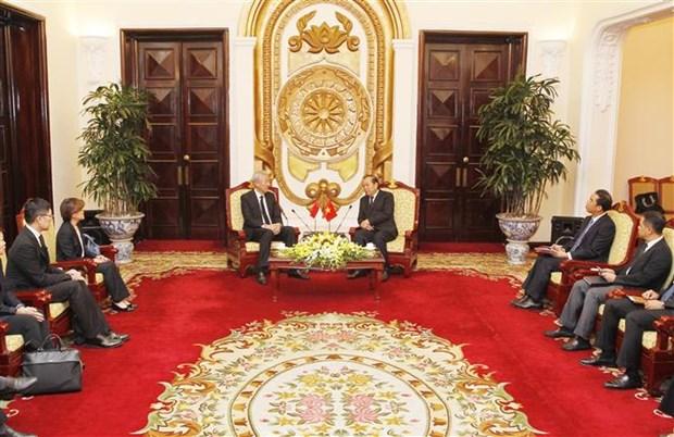 越南政府常务副总理张和平会见新加坡副总理张志贤 hinh anh 2