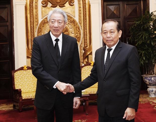 越南政府常务副总理张和平会见新加坡副总理张志贤 hinh anh 1