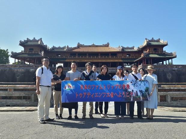 日本旅游考察团对承天顺化省多个旅游景点进行考察 hinh anh 1