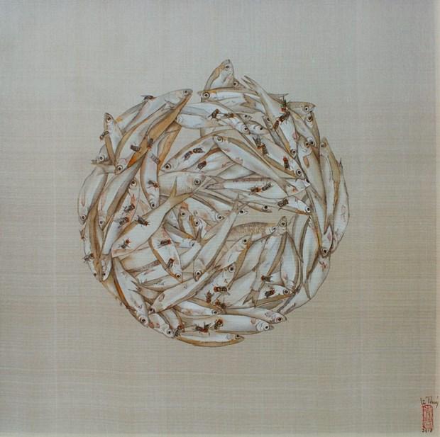 17名越南画家在美国纽约展示艺术才华 hinh anh 1