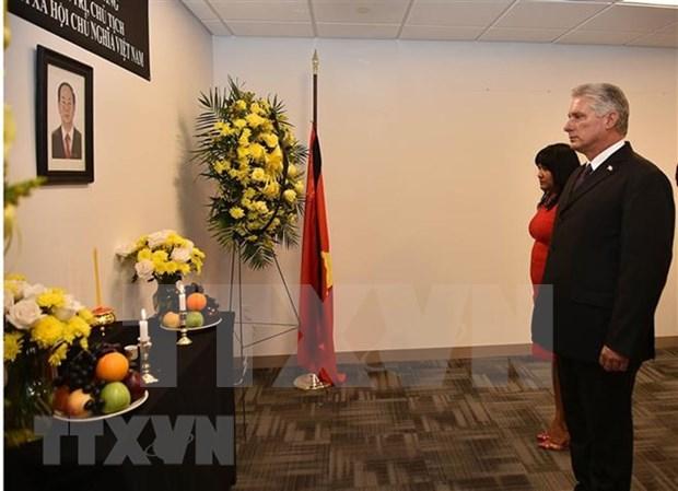 越南常驻联合国代表团为越南国家主席陈大光举行吊唁仪式 hinh anh 2